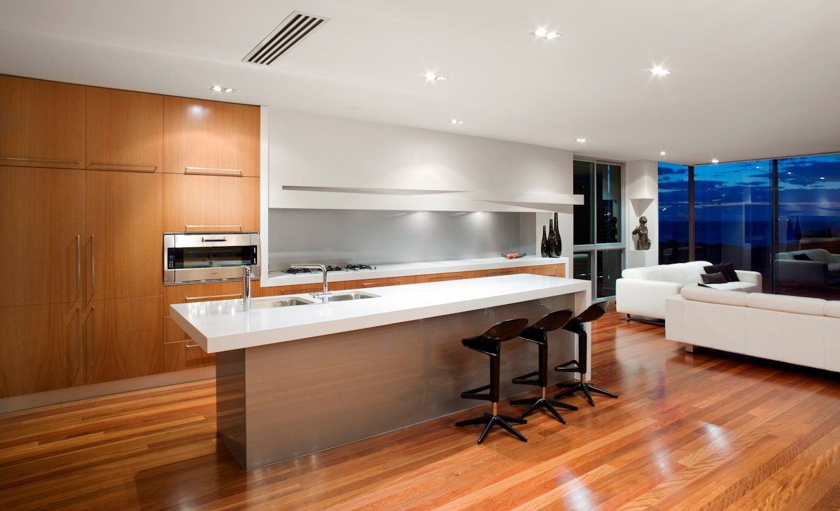 Kitchen Island, Breakfast Bar, Contemporary Home in Brighton, Australia