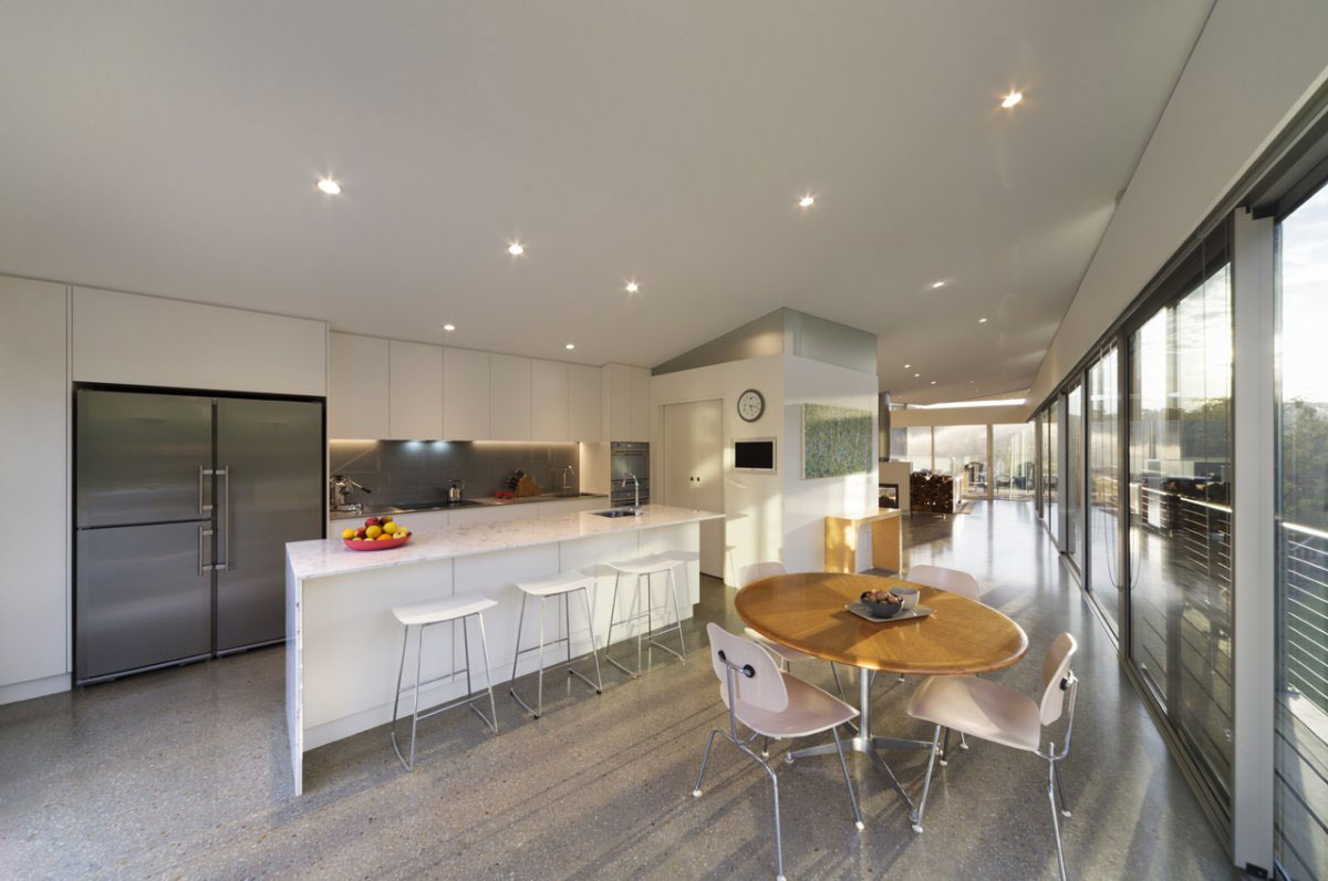 Kitchen Island, Breakfast Table, Sailing Inspired House in Victoria, Australia