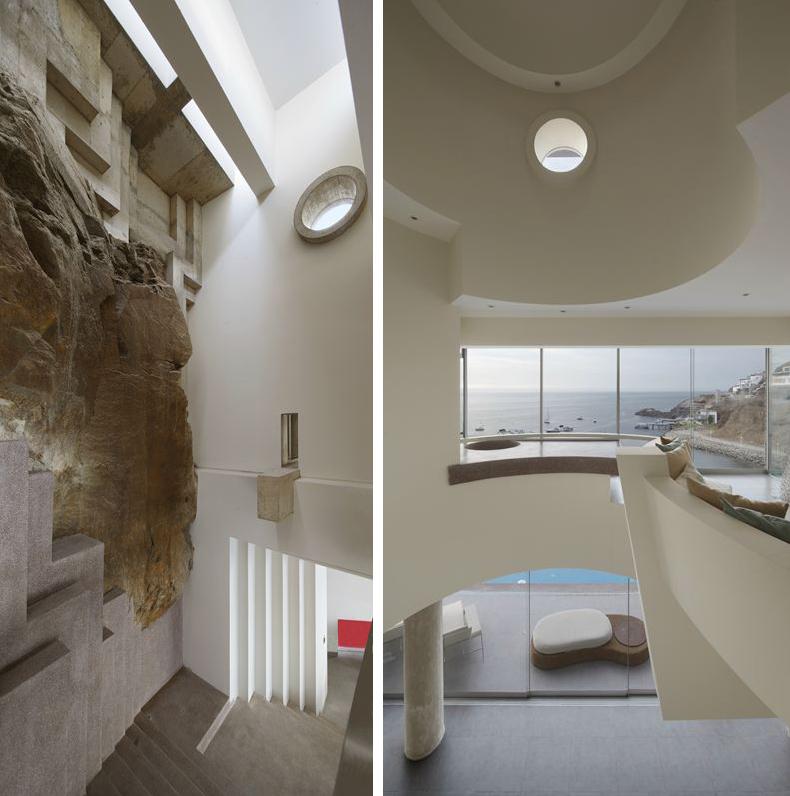 Views, Glass Walls, Beach House in Lima, Peru
