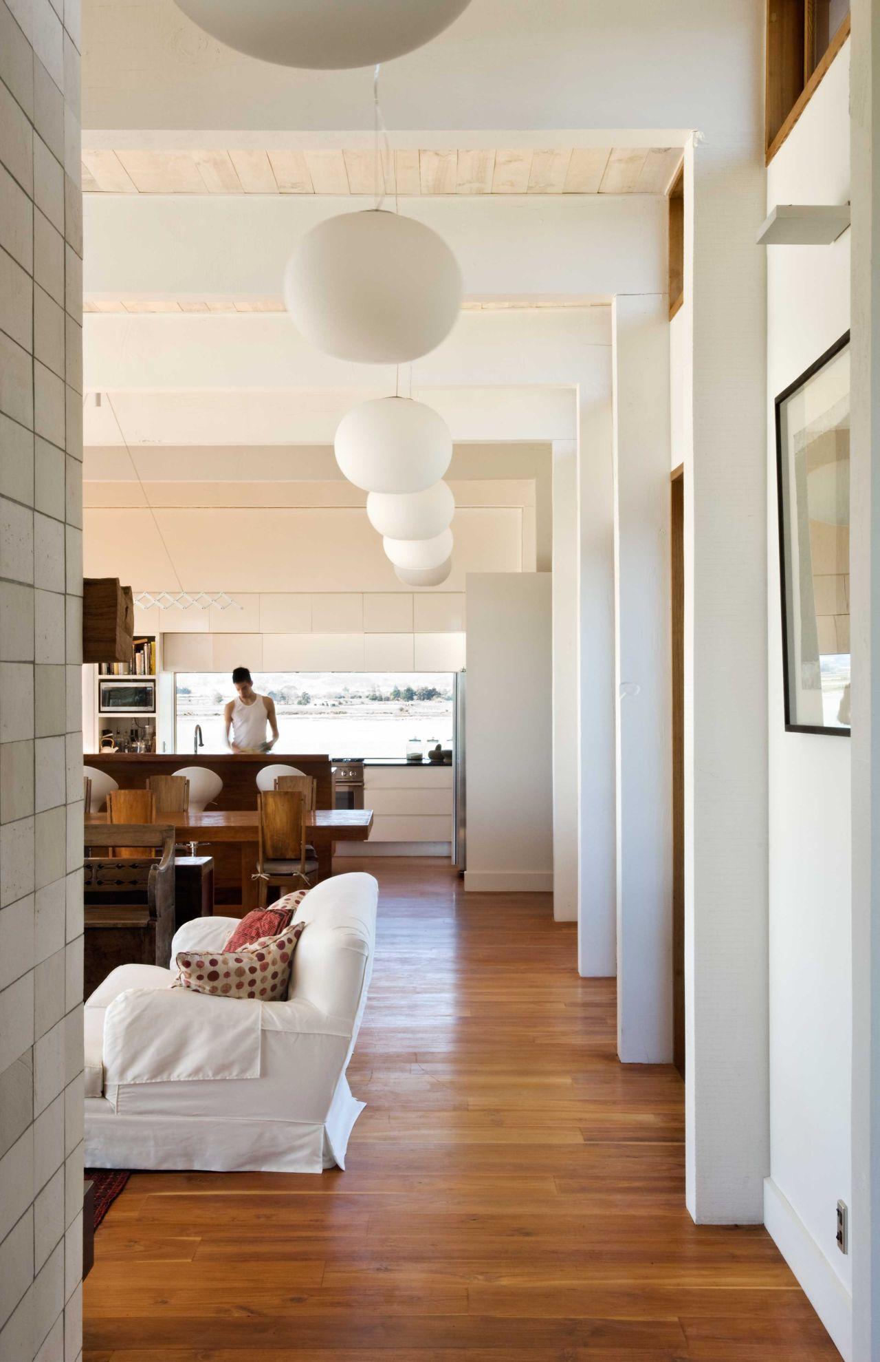 lighting open plan living modern home  nelson