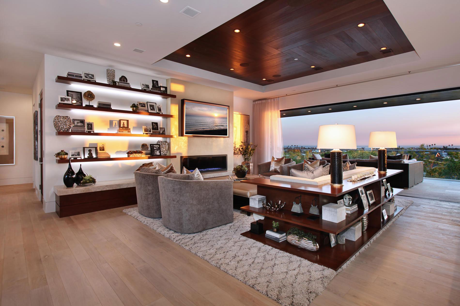 Living Room, Balcony, Views, Home in Corona del Mar, California