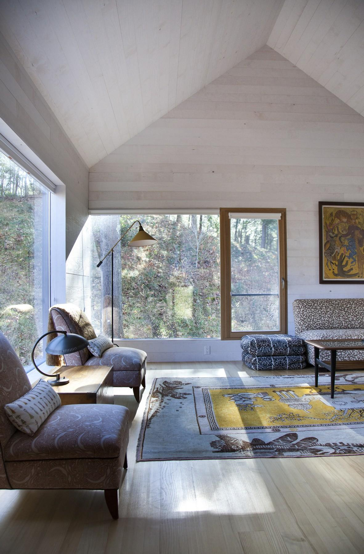 Living Room, Rug, Rural Retreat in Bantam, Connecticut