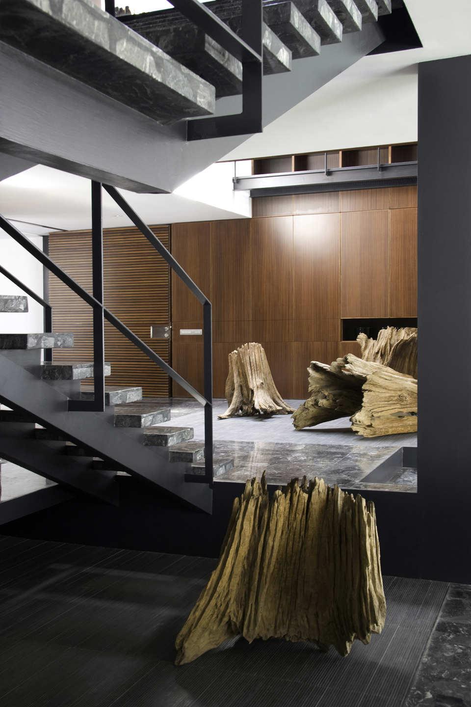 Marble Stairs, Wood, Art, Home Renovation in Guadalajara, Mexico