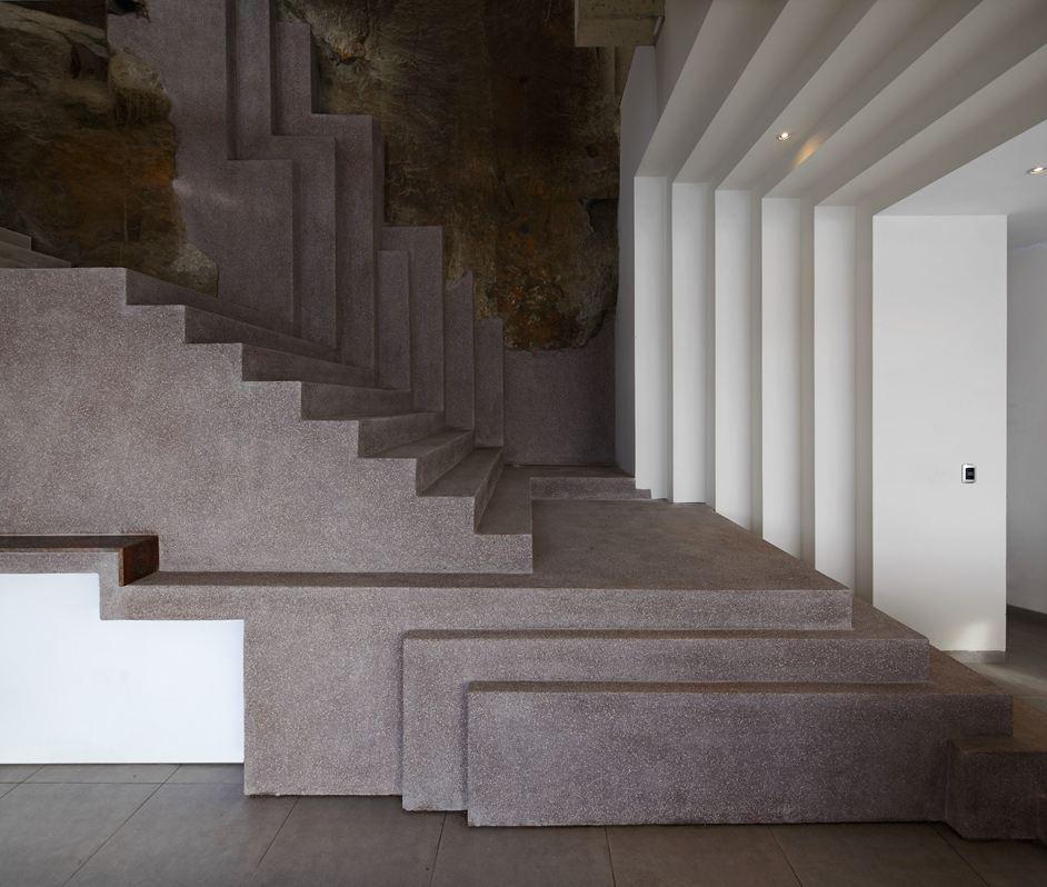 Modern Stairs, Beach House in Lima, Peru