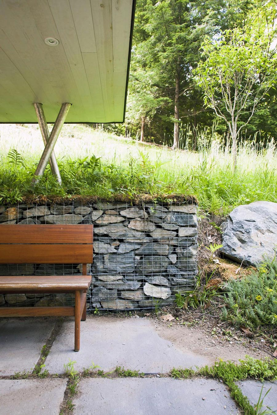 Natural Stone Wall, Rural Retreat in Bantam, Connecticut