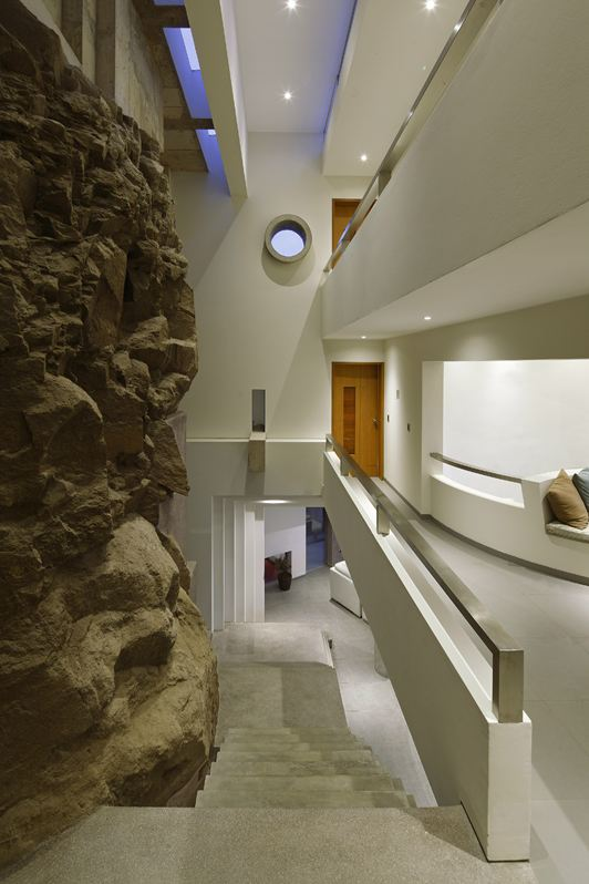 Natural Stone Wall, Stairs, Beach House in Lima, Peru