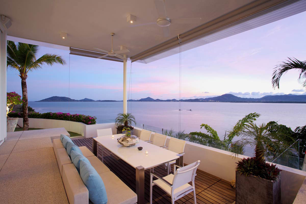 Outdoor Dining, Bay Views, Oceanfront Villa in Phuket, Thailand