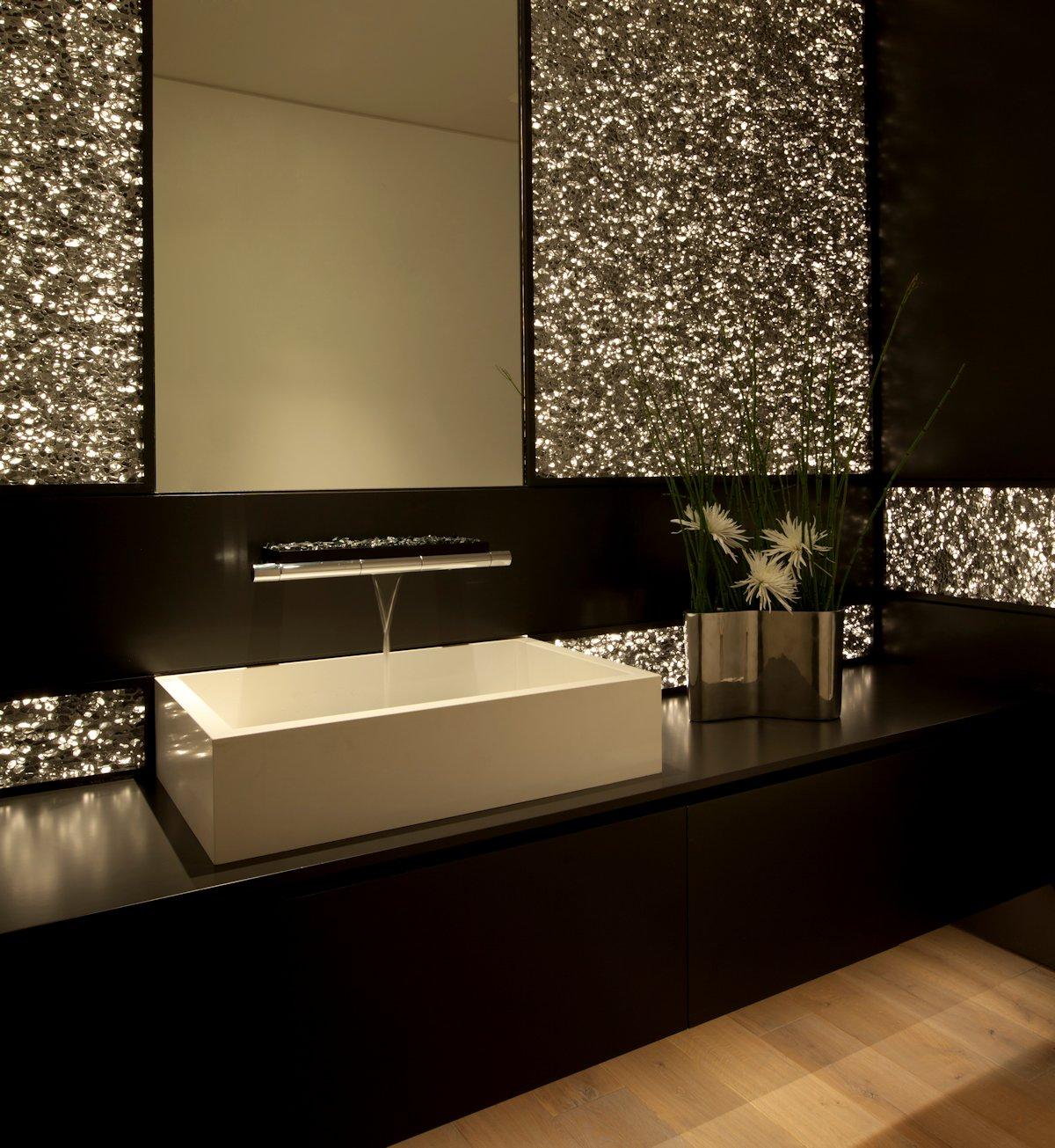 Sparkly Bathroom, Sink, Beach House in Laguna Beach, California