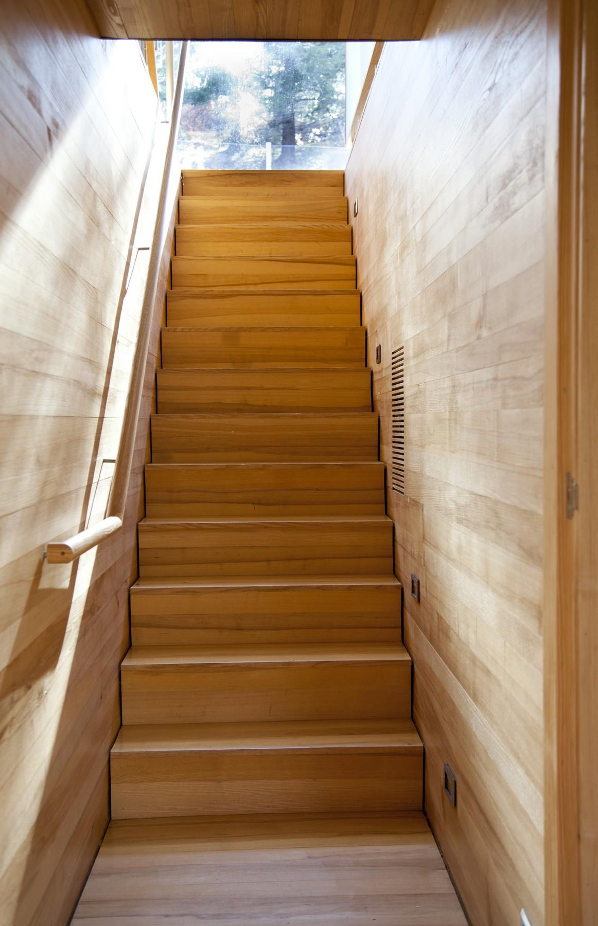 Stairs, Rural Retreat in Bantam, Connecticut
