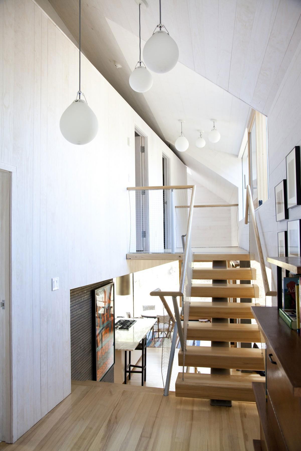 Stairs, Lighting, Rural Retreat in Bantam, Connecticut