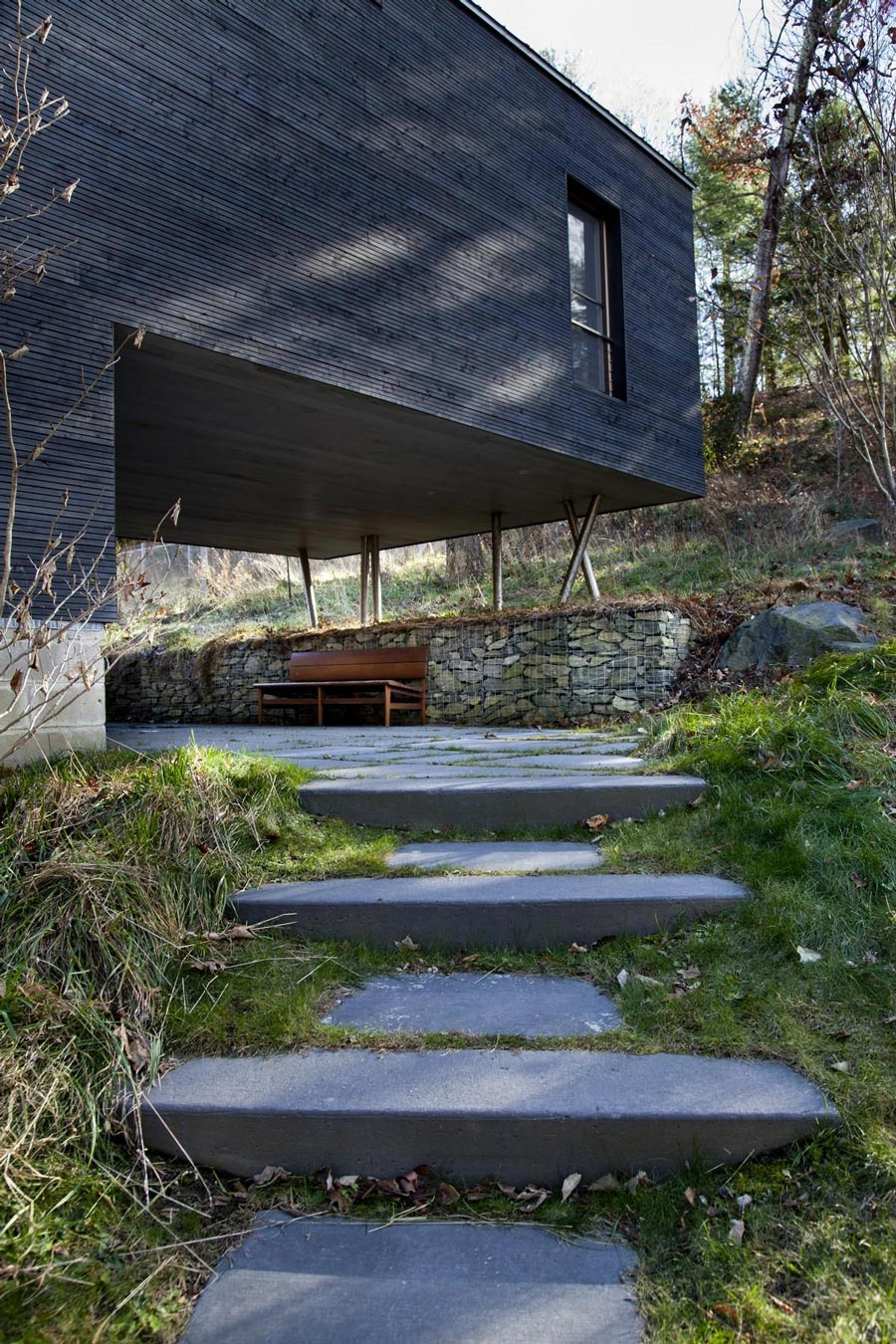 Steps, Stone Wall, Rural Retreat in Bantam, Connecticut
