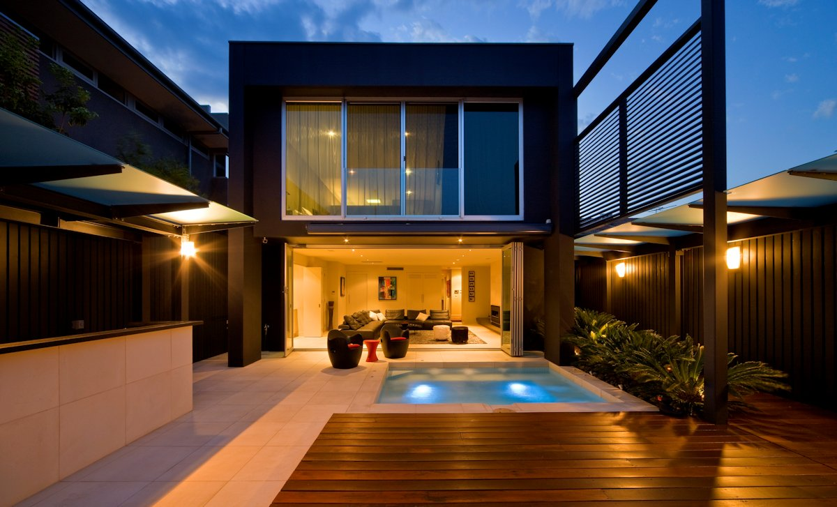 Swimming Pool, Terrace, Contemporary Home in Brighton, Australia