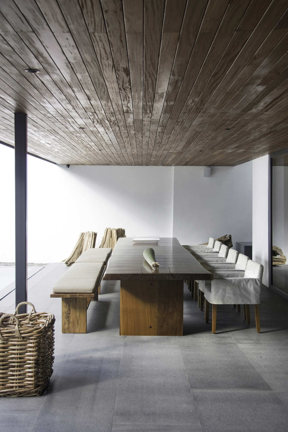 Wood Dining Table, Home Renovation in Guadalajara, Mexico