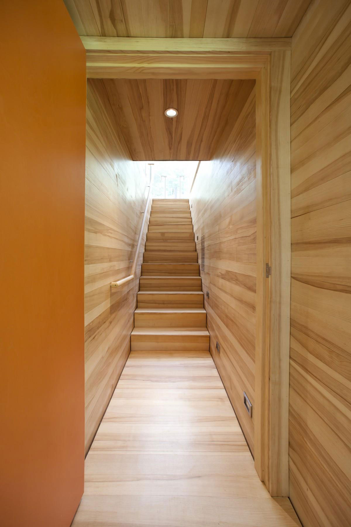 Wooden Stairs, Rural Retreat in Bantam, Connecticut