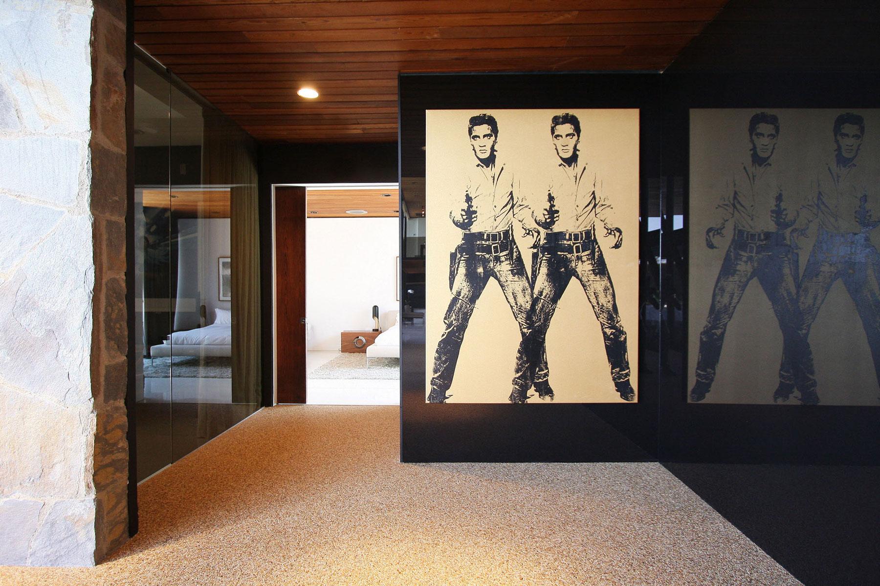 Art, Hallway, Revamped Interior in Beverly Hills
