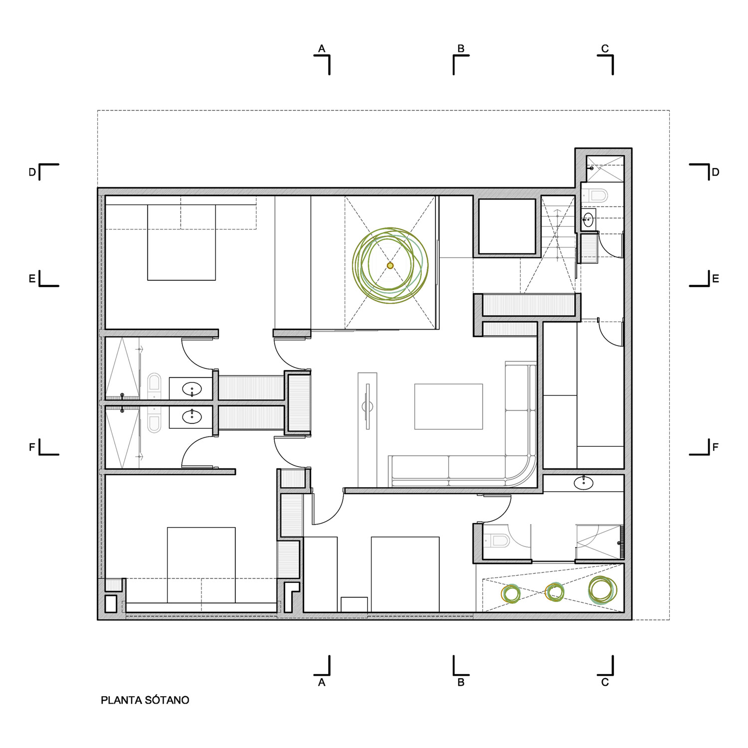 Basement floor plan luxury modern home in lima peru for Modern home plans with basement