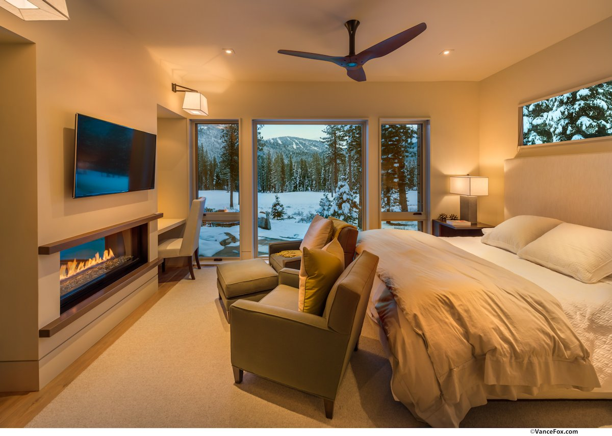 Bedroom, Fireplace, Mountain Views, Home near Lake Tahoe, California