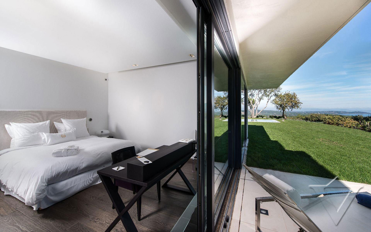 Bedroom, Sliding Doors, Terrace, Luxury Holiday Villa in Saint-Tropez, France