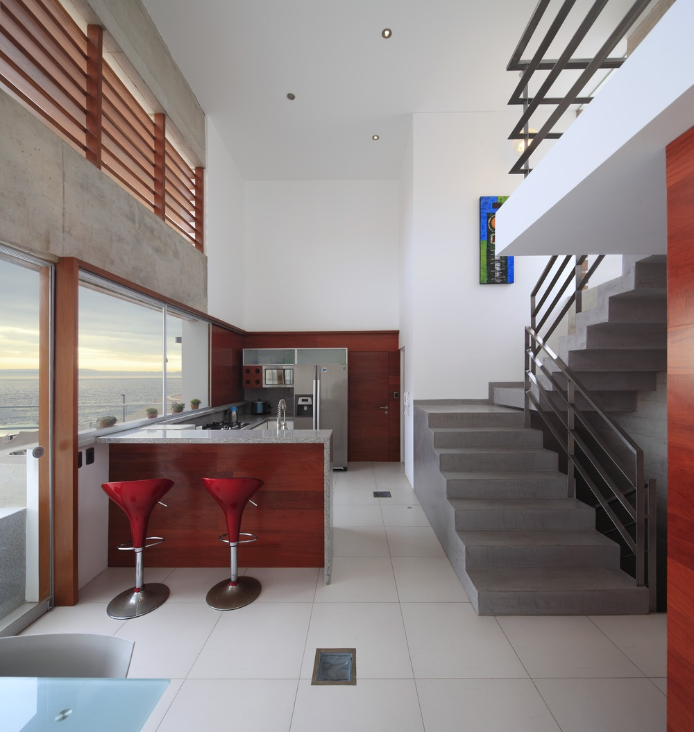 Breakfast Bar, Kitchen, Stairs, Stunning Home situated above Palillos Beach, Peru