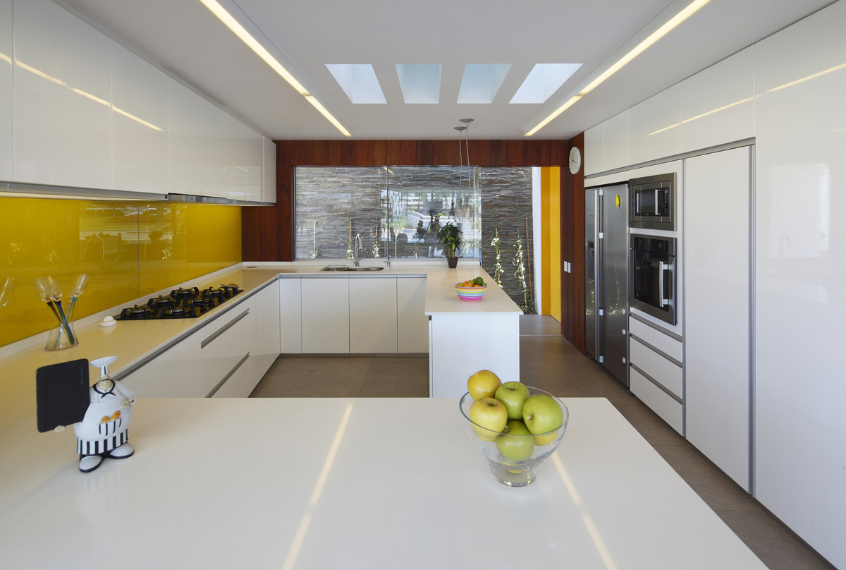 Bright White Kitchen, Luxury Modern Home in Lima, Peru