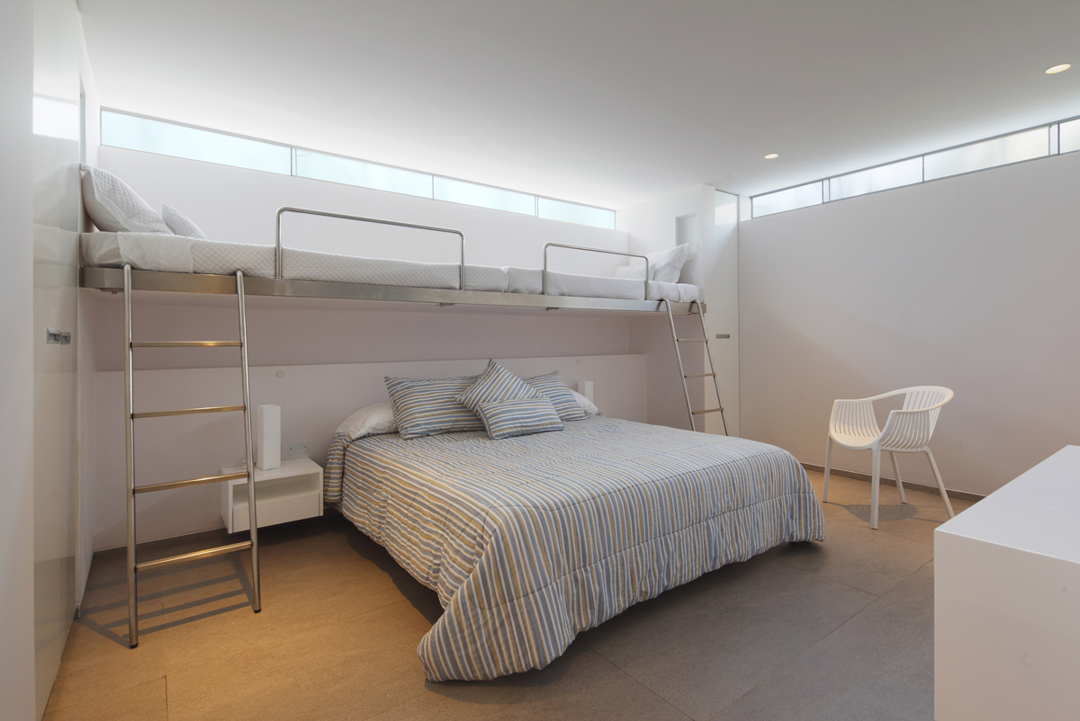 Bunk Beds, Bedroom, Luxury Modern Home in Lima, Peru