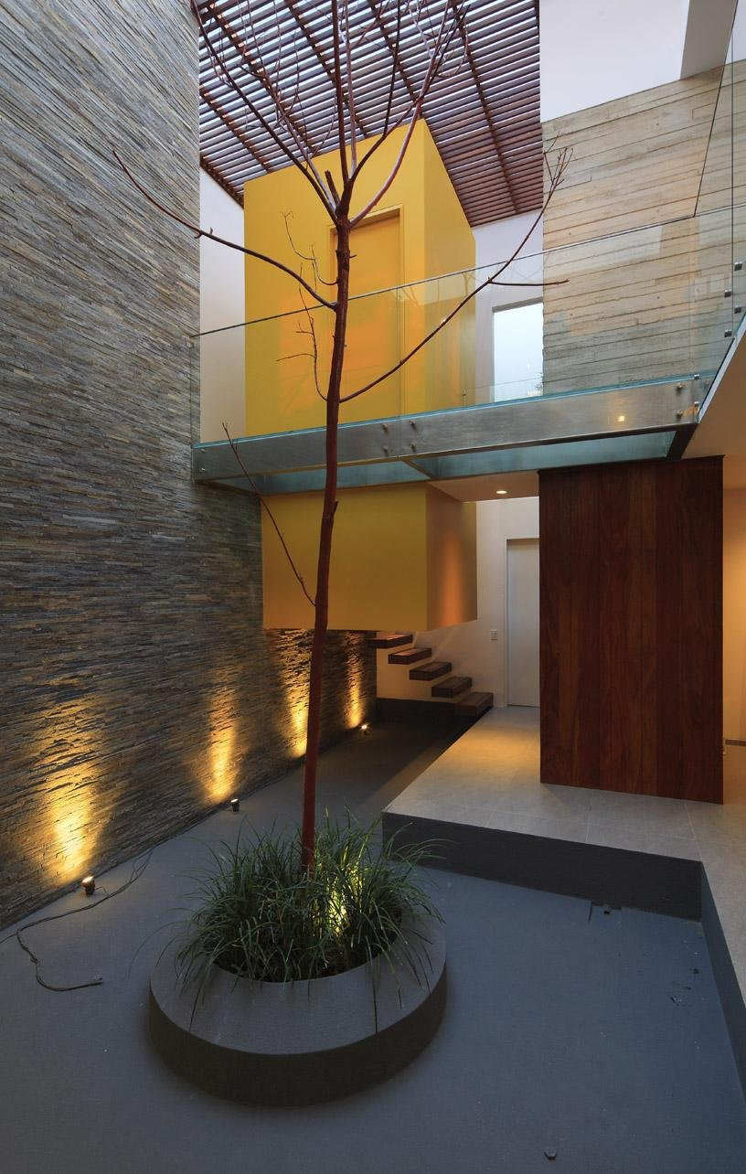Courtyard, Luxury Modern Home in Lima, Peru