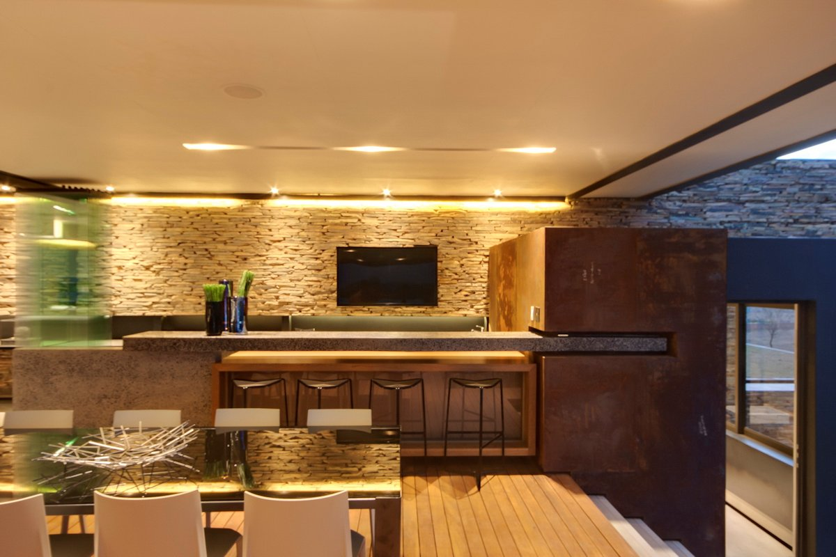Dining Space, Breakfast Bar, Modern Residence in Pretoria, South Africa
