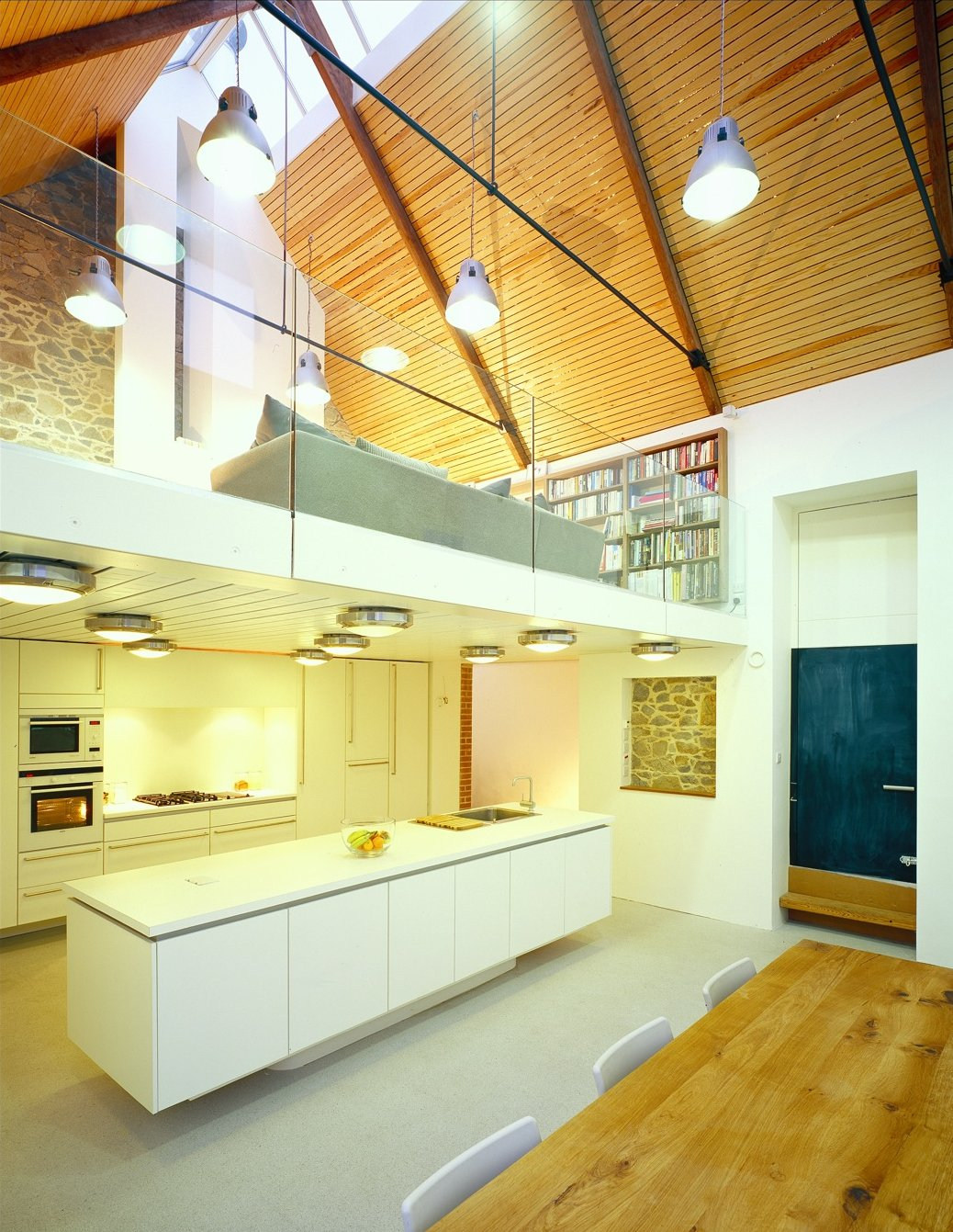 Dining Table, Kitchen, Mezzanine, Barn Conversion on the Island of Guernsey