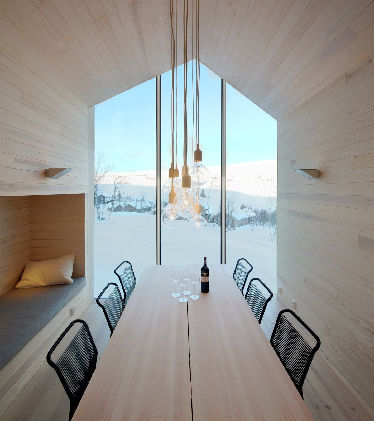 Dining Table, Lighting, Holiday Lodge in Havsdalen, Norway