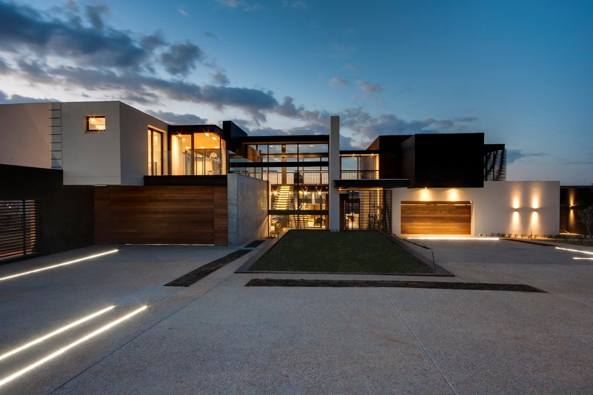 Driveway, Entrance, Luxurious Modern Residence in Pretoria, South Africa