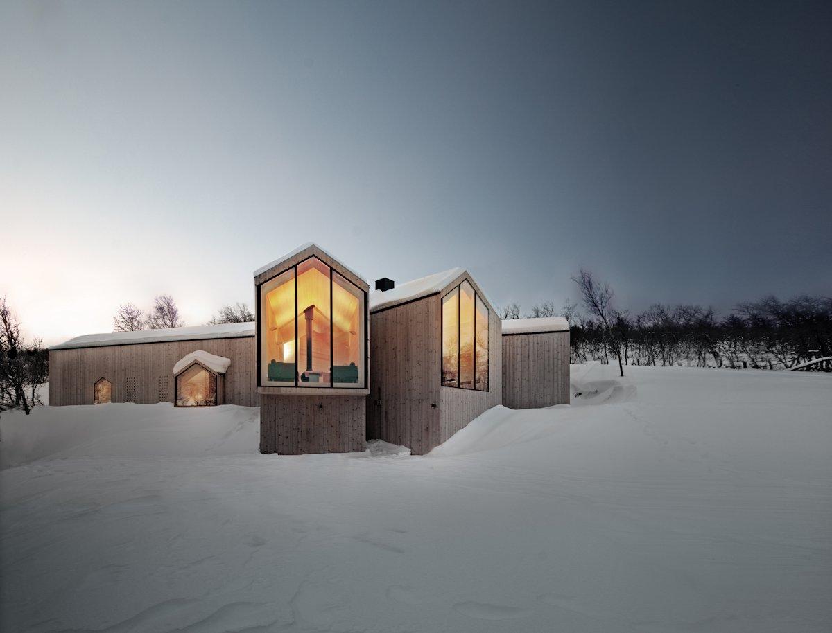 Dusk, Lighting, Holiday Lodge in Havsdalen, Norway