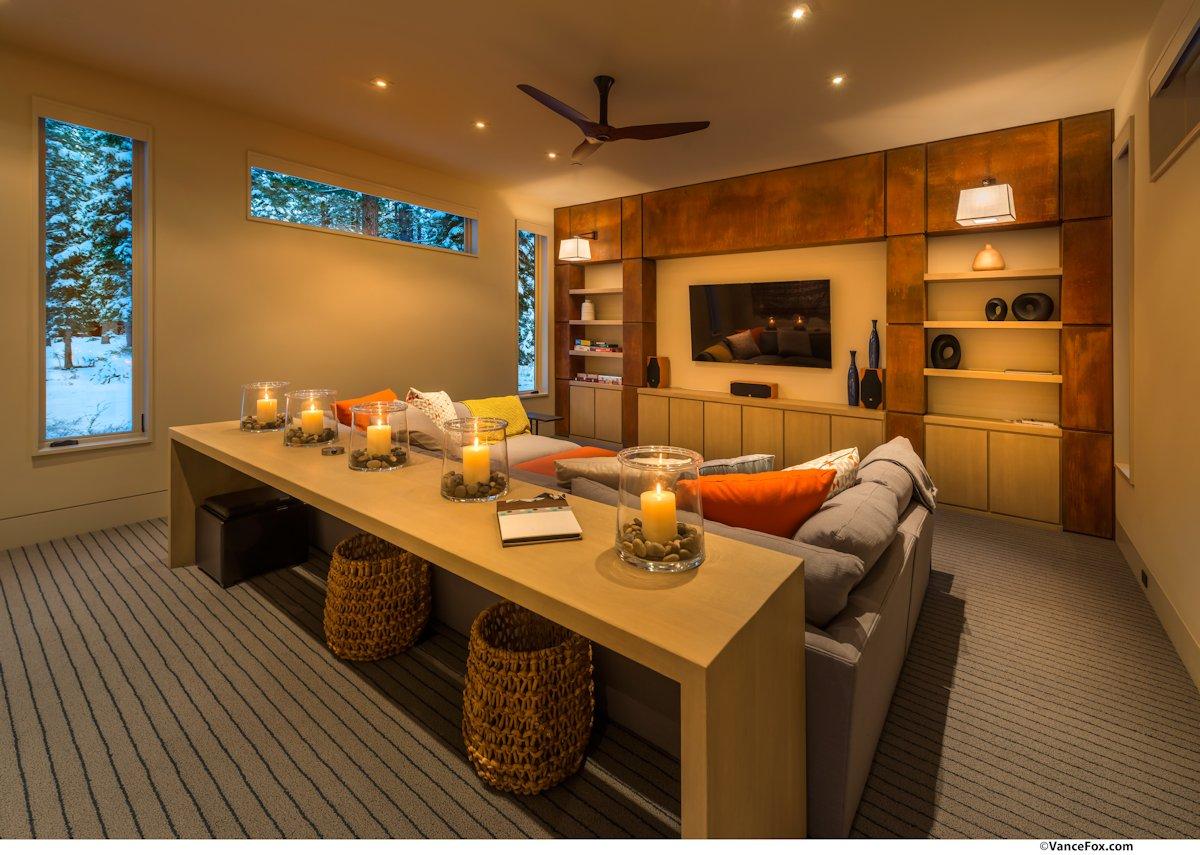 Entertainment Room, Sofa, Table, Home near Lake Tahoe, California