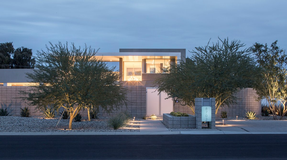 Entrance, Mid-Century Modern Home in Scottsdale, Arizona