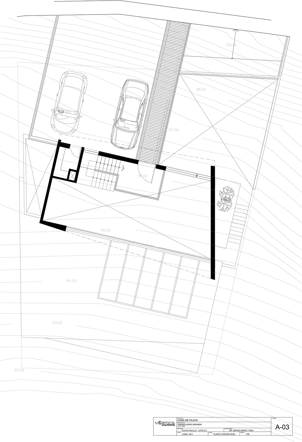 Second Floor Plan, Stunning Home situated above Palillos Beach, Peru