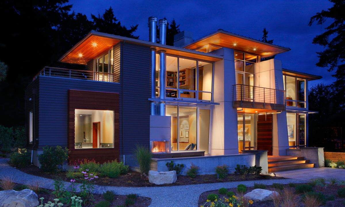 Designed For a Newly Retired Couple: Olympic View House
