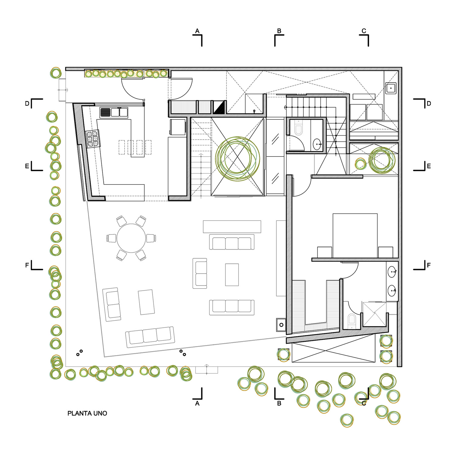 First Floor Plan, Luxury Modern Home in Lima, Peru