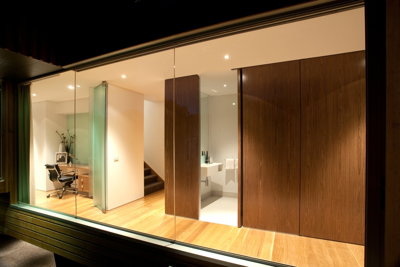 Floor-to-Ceiling Windows, Home Office, Kew House in Melbourne