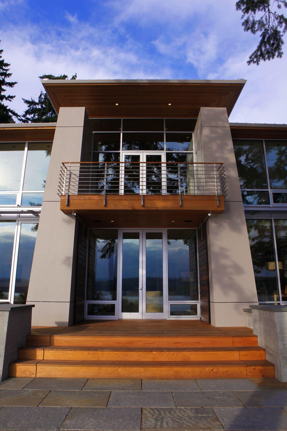 Front Door, Entrance, Olympic View House on Bainbridge Island