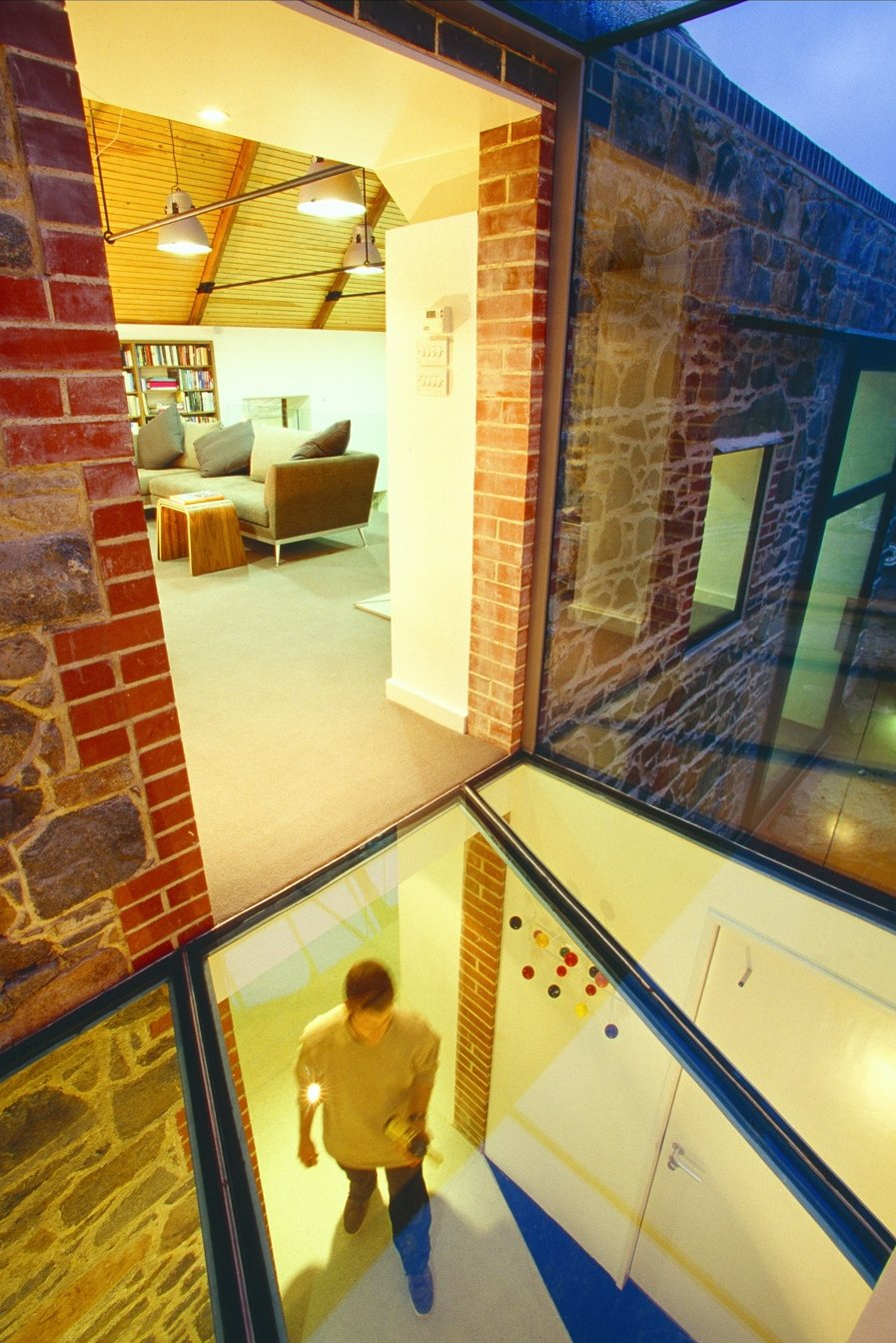 Glass Floor & Wall, Living Space, Barn Conversion on the Island of Guernsey