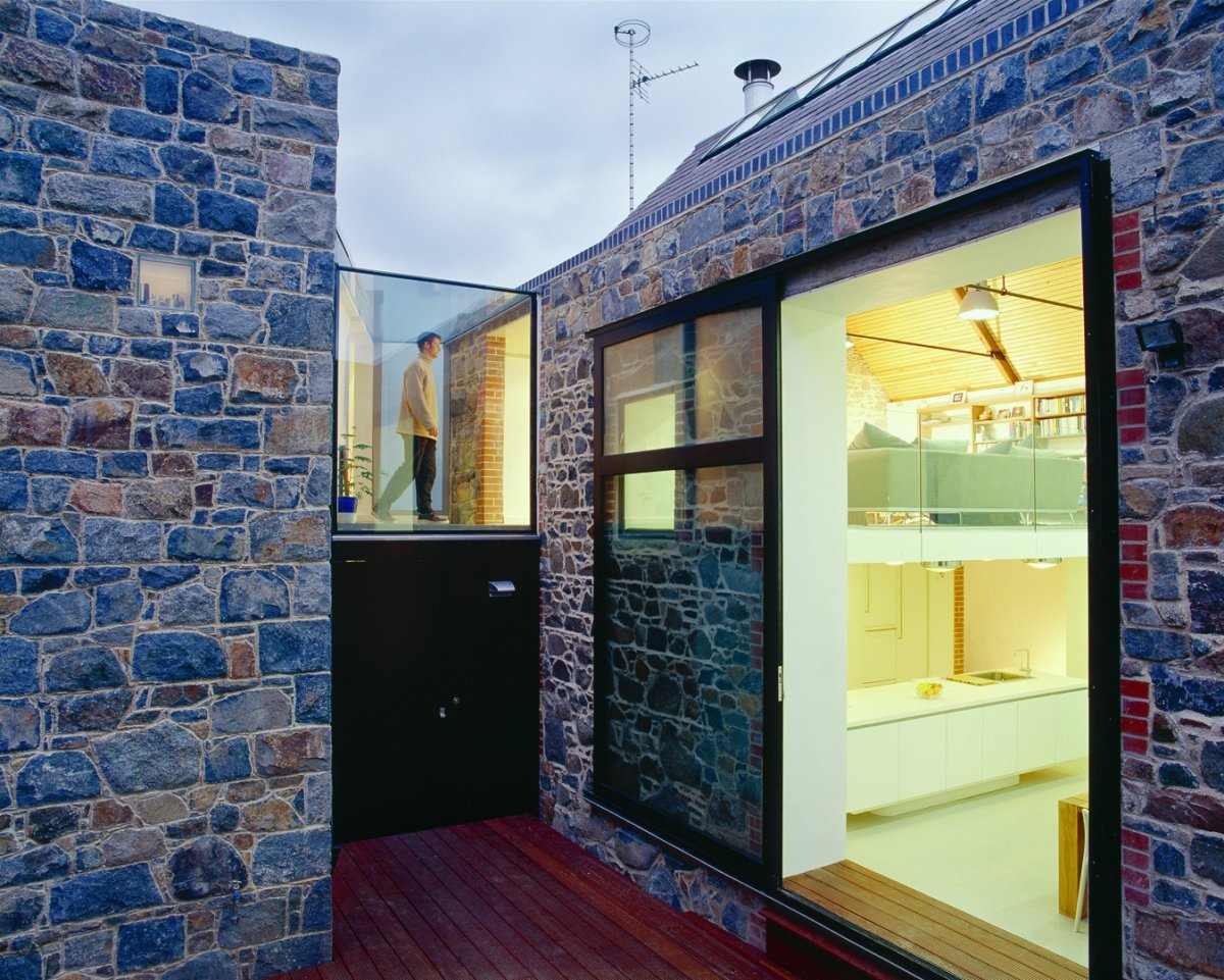 Glass Sliding Door, Wooden Deck, Barn Conversion on the Island of Guernsey
