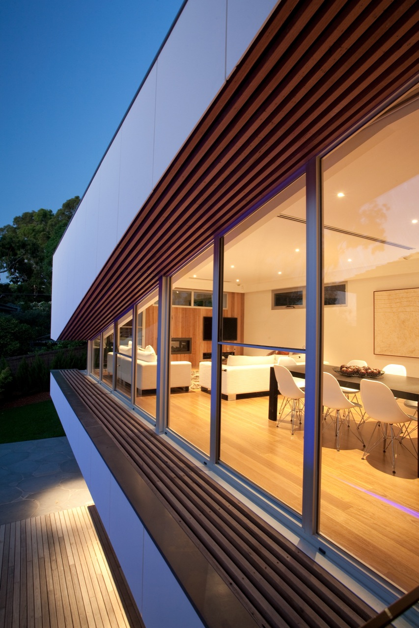 Glass Sliding Doors, Kew House in Melbourne