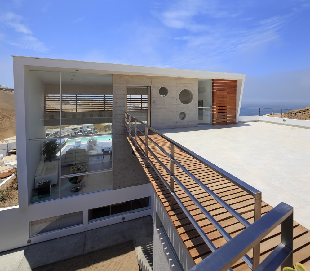 Glass Wall, Entrance, Stunning Home situated above Palillos Beach, Peru