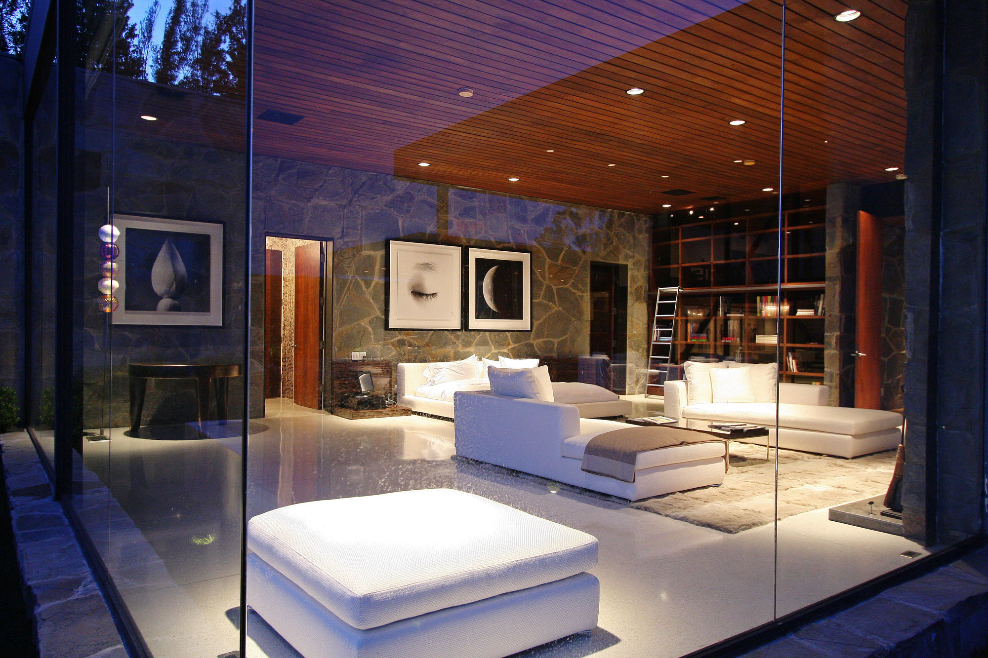 Glass Walls, Bedroom, Revamped Interior in Beverly Hills