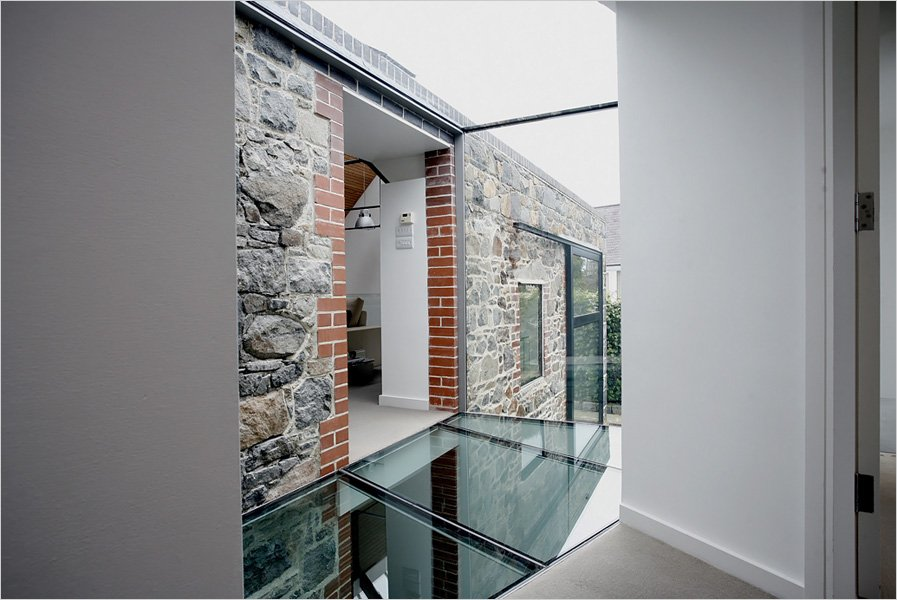 Glass Floor & Walls, Barn Conversion on the Island of Guernsey