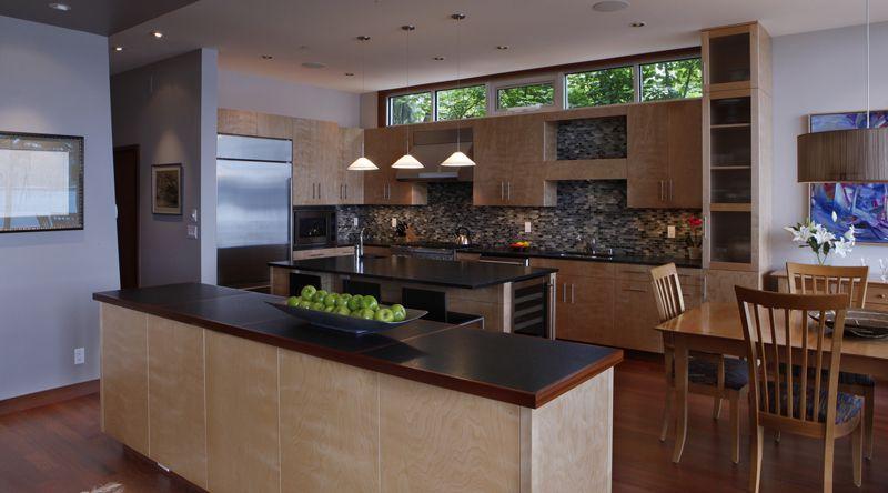 Kitchen Island, Dining Table, Olympic View House on Bainbridge Island