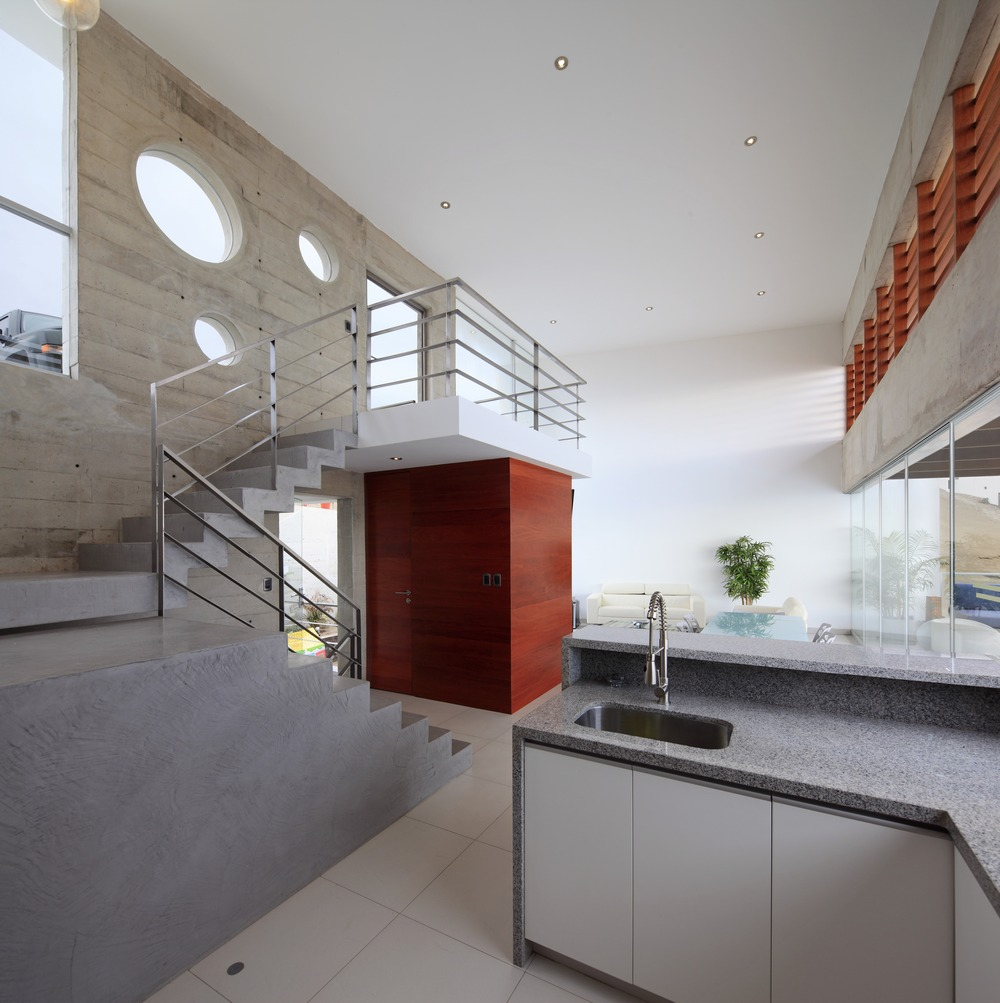 Kitchen, Stairs, Entrance, Stunning Home situated above Palillos Beach, Peru