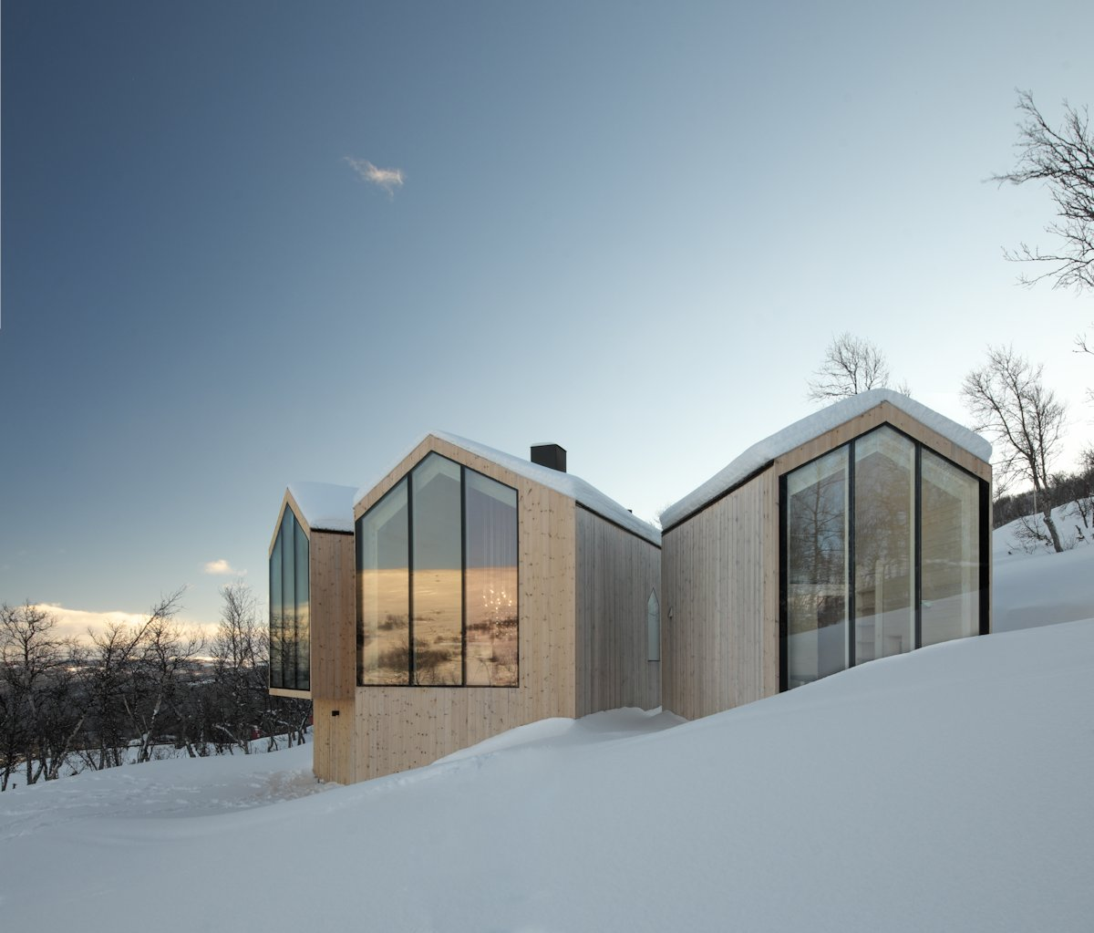 Large Windows, Wood Cladding, Holiday Lodge in Havsdalen, Norway