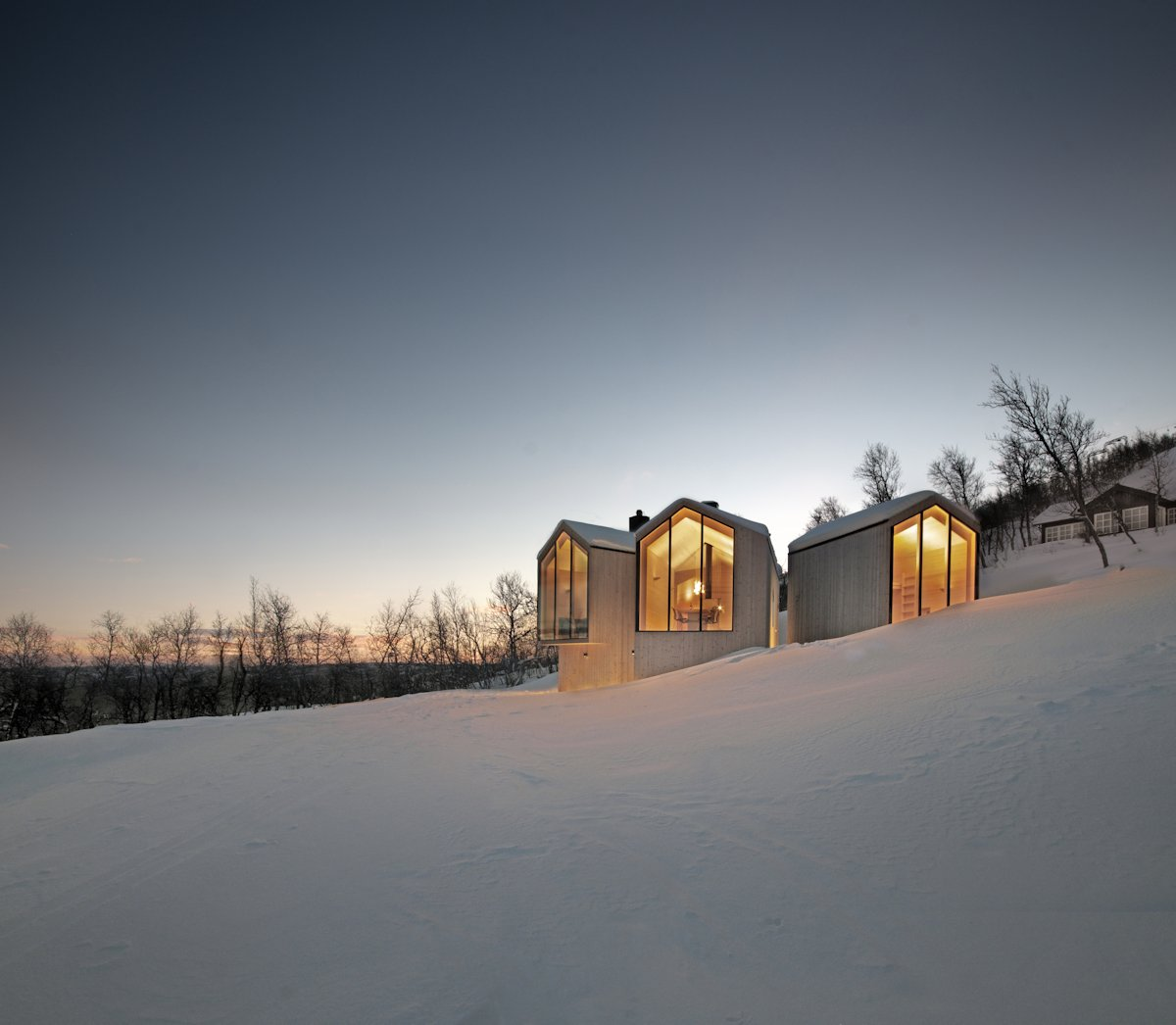 Lighting, Evening, Snow, Holiday Lodge in Havsdalen, Norway