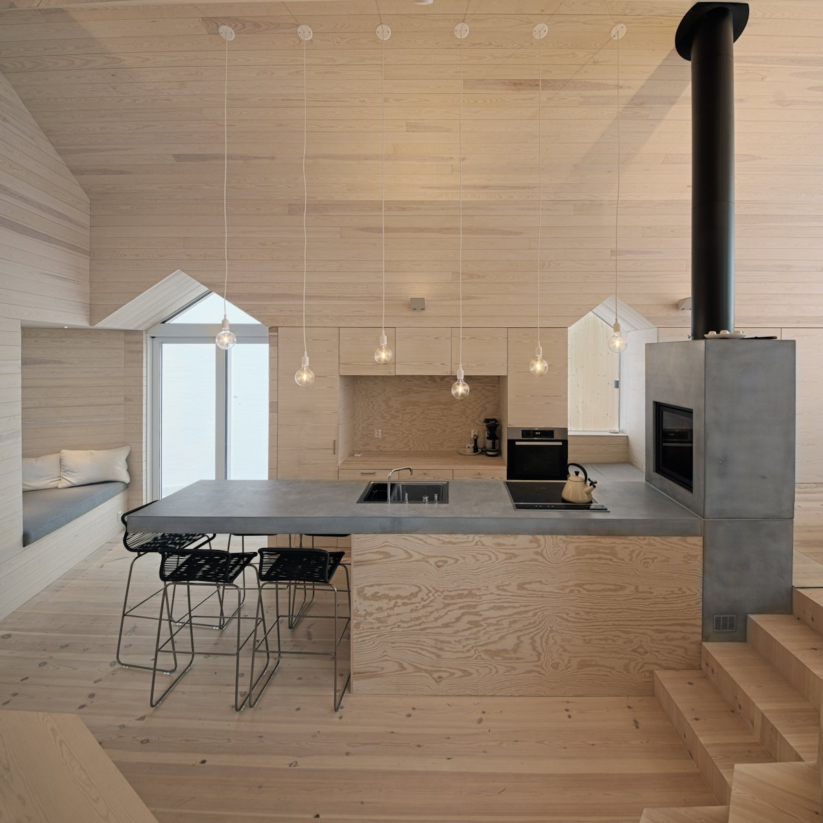 Lighting, Kitchen Island, Holiday Lodge in Havsdalen, Norway
