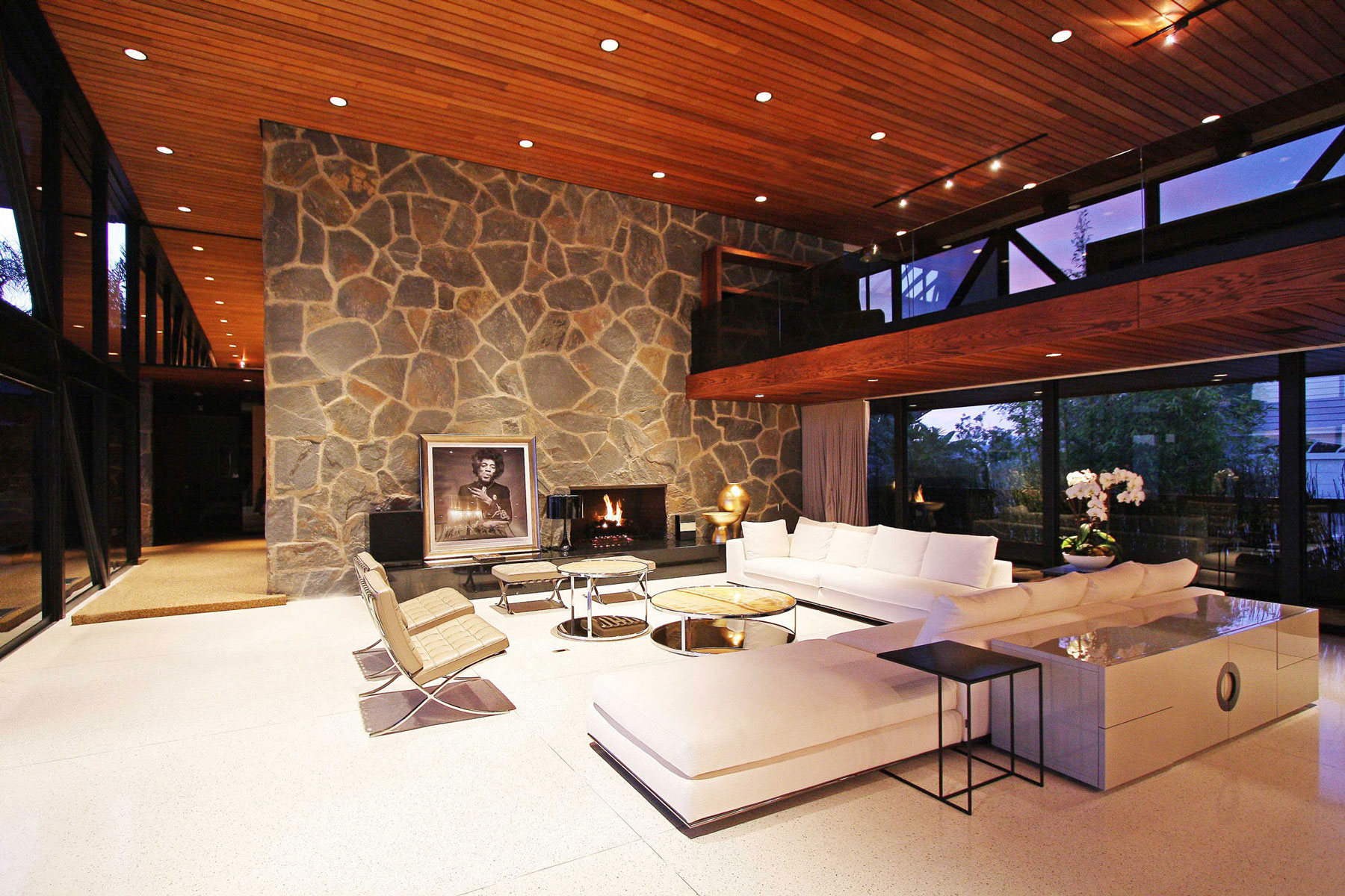 Living Room, Evening, Lighting, Revamped Interior in Beverly Hills